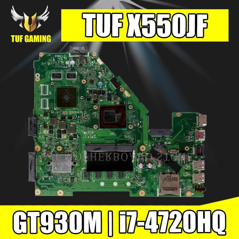 X550JF Scheda Madre i7-4720HQ GT930 Per For Asus FX50J X550J X550JK X550JD Scheda Madre del computer portatile X550JF Mainboard X550JF Scheda Madre