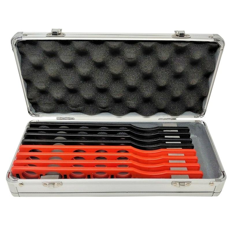 Retinoscopia conjunto de lente rack de plástico barra de alumínio caso placa lentes 8 barras 40 lente retinoscopia optométrica