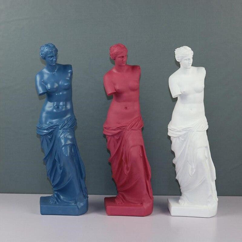 Aphrodite deusa estátua obras de arte artesanato escultura moderna mesa decoração para casa ornamentos r3291 vênus de milo grande resina arte