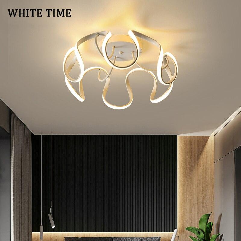 سقف ليد حديث ضوء لغرفة النوم غرفة المعيشة غرفة الطعام الذهب الأسود الجسم مصابيح إنارة داخلية للمنزل السقف مصباح بريق الإنارة
