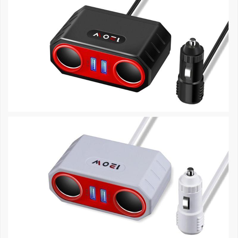 Автомобильное заднее сиденье двойной USB телефон зарядное устройство прикуриватель сплиттер адаптер питания