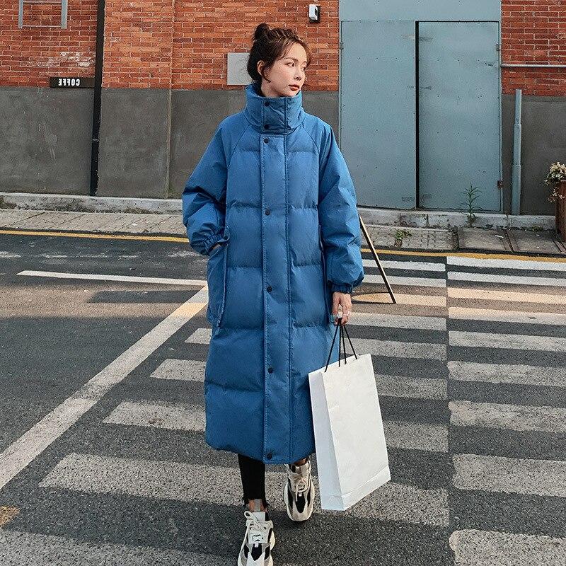 Толстые теплые зимние длинные парки, женские длинные пальто, зимняя верхняя одежда с хлопковой подкладкой для девочек, женское пальто