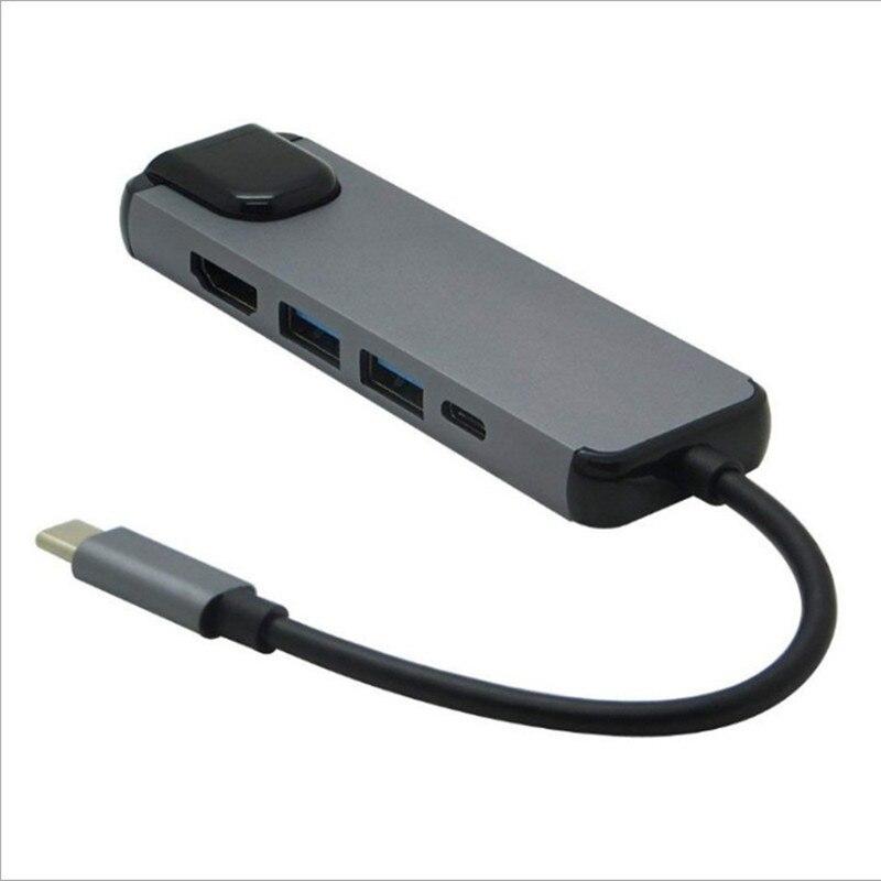 Estación de acoplamiento tipo C, Hub con 5 puertos de expansión, HDMI,...