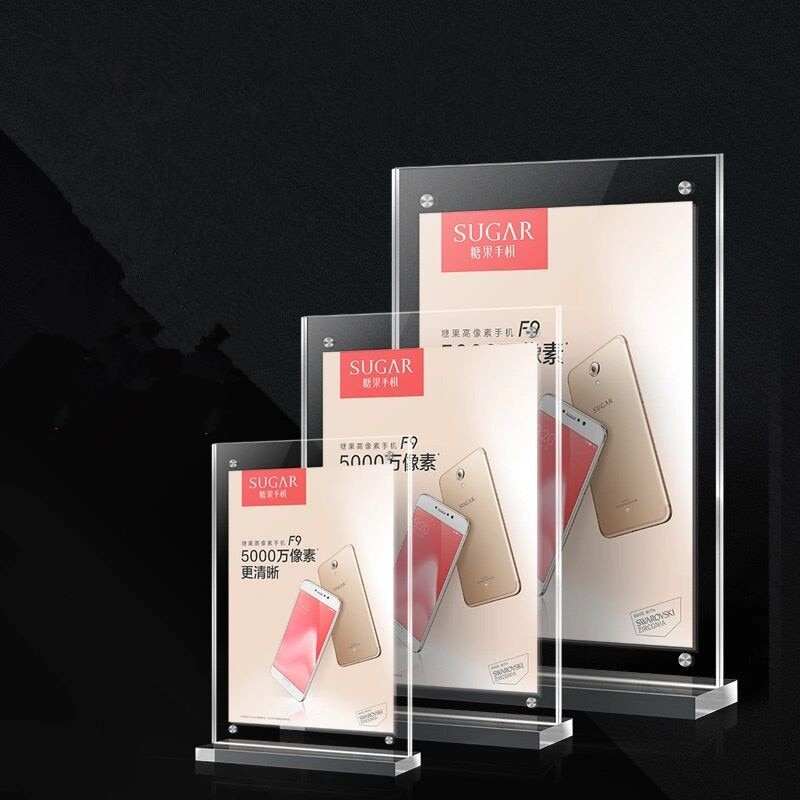 A6 настольная акриловая стойка для меню фото постер рамка магнитное меню бумажный знак держатель стойка для дисплея