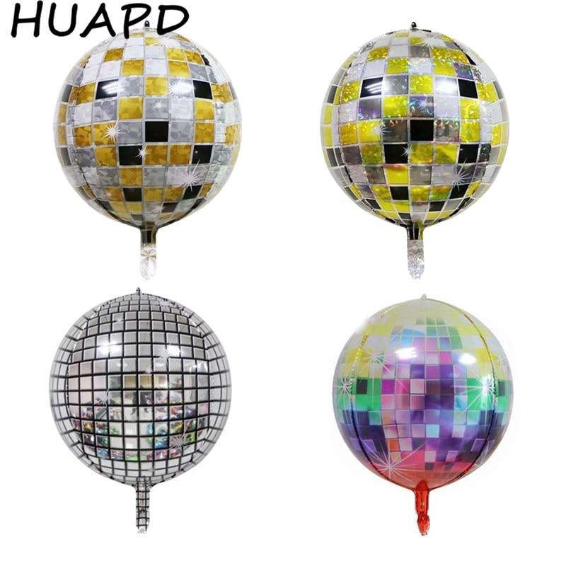 4D Ballons 22 zoll Regenbogen Gradienten Disco Folie Ballons für Hochzeit Thema Party Feier Ballons Geburtstag Dekorationen Balon