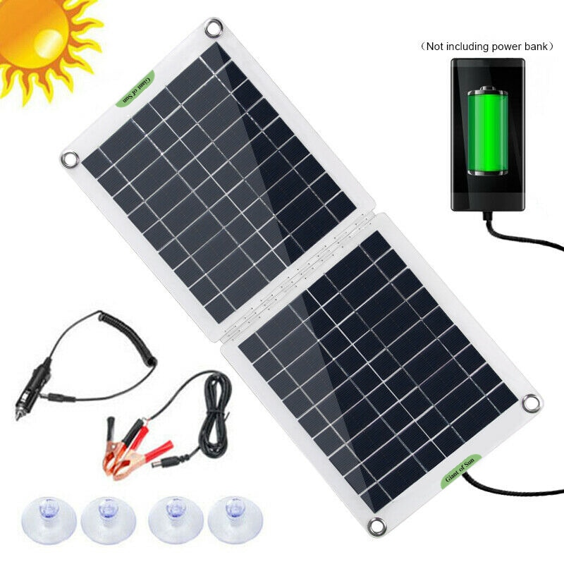 في الهواء الطلق ألواح الطاقة الشمسية المحمولة ل وحدة تخزين طاقة للهاتف المحمول شحن 60 واط 12 فولت USB شاحن بطارية للهاتف المحمول شاحن بالطاقة ال...