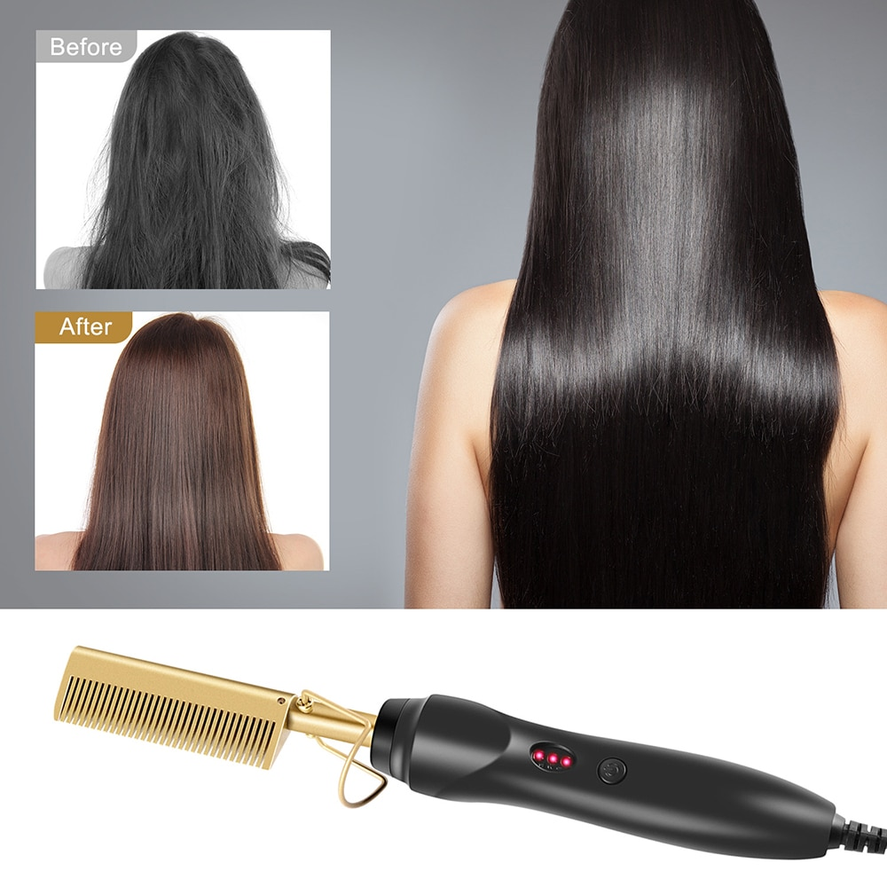 Multifunctional Hair Straightener Curling Stick Comb Wet And Dry Dual Use Curling Iron Hot Electric
