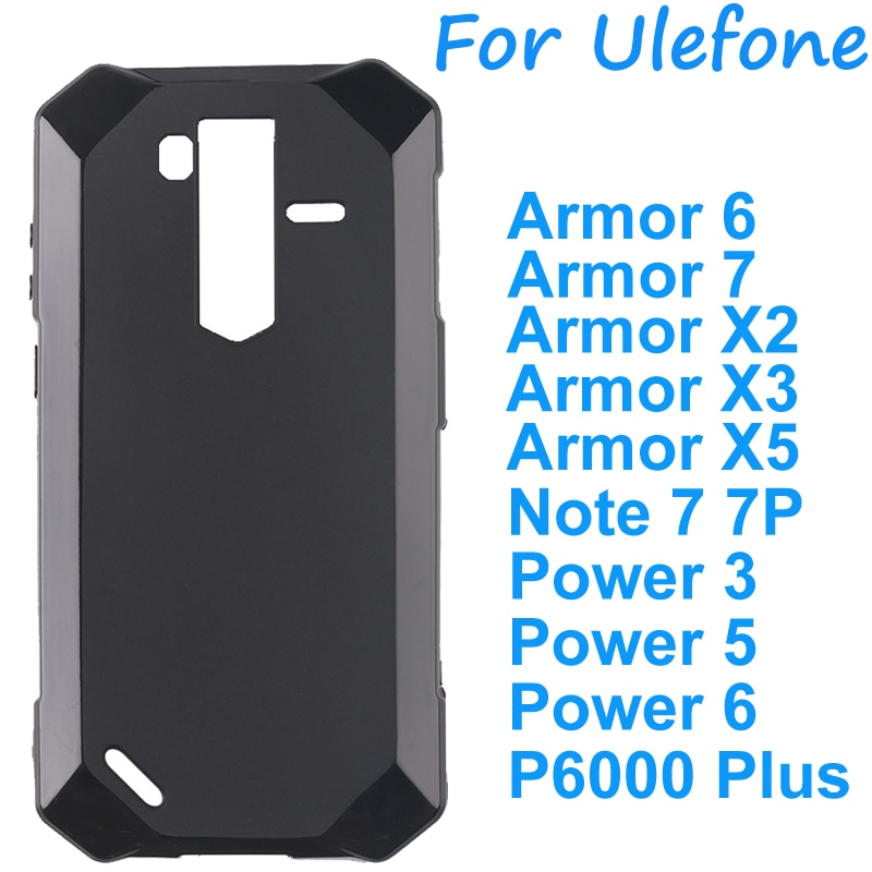 For Ulefone Armor 6 7 X2 X3 X5 Cover Silicone Case Soft TPU Back Cover Case on Ulefone Note 7P Power 3 5 6 P6000 Plus Shell Case