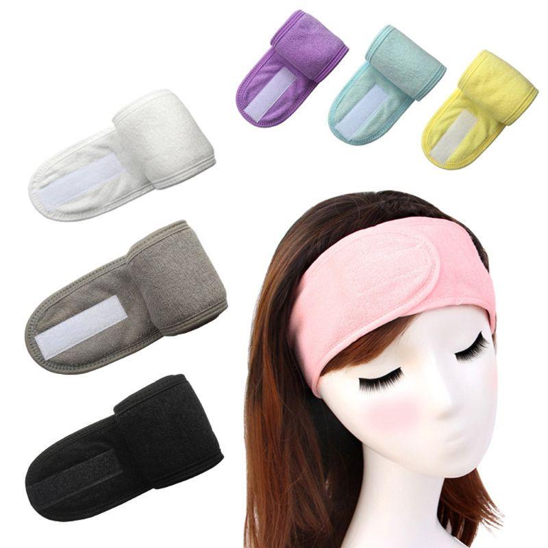 Ducha de baño para mujer, turbante elástico de lavado de cara para baño, pañuelo cosmético para Yoga para mujer, toalla de tela, diadema para maquillaje, tocado de diadema