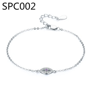 (With Box) SPC1 Alloy Purple Murano GlasHot Silver Color Royal Crown Charms Brand Bracelets & Bangles MM