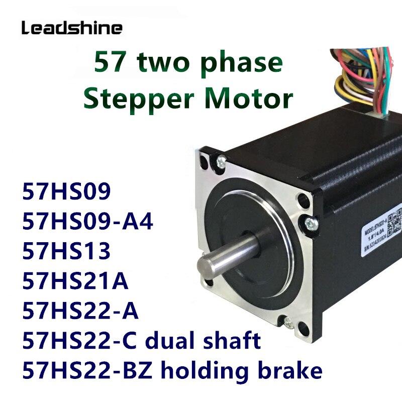Leadshine 57 motor deslizante bifásico 57hs09 57hs13 57hs21 57hs22 dm542 conjunto de motorista local