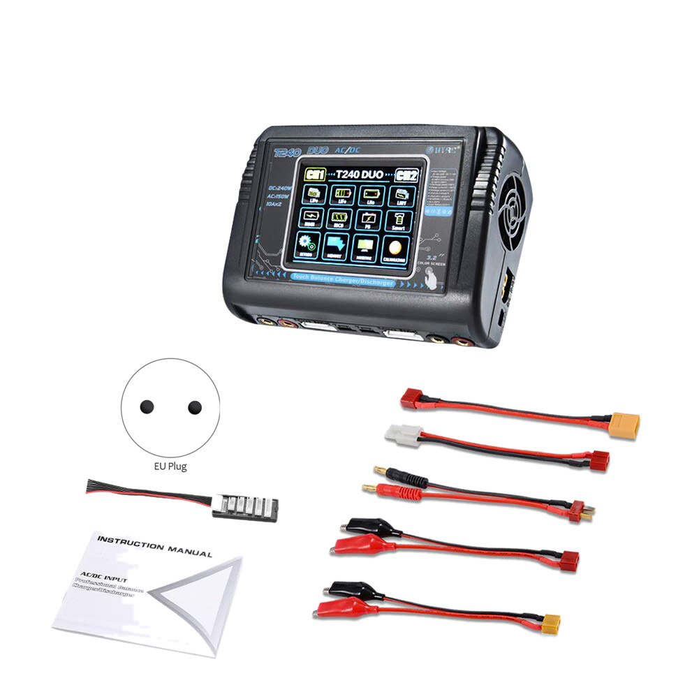 LIPO Charger AC DC T240 Touch-screen Lithium Battery Charger Remote Control Car Toy B6 Charger Quick Balancing Battery Charger enlarge