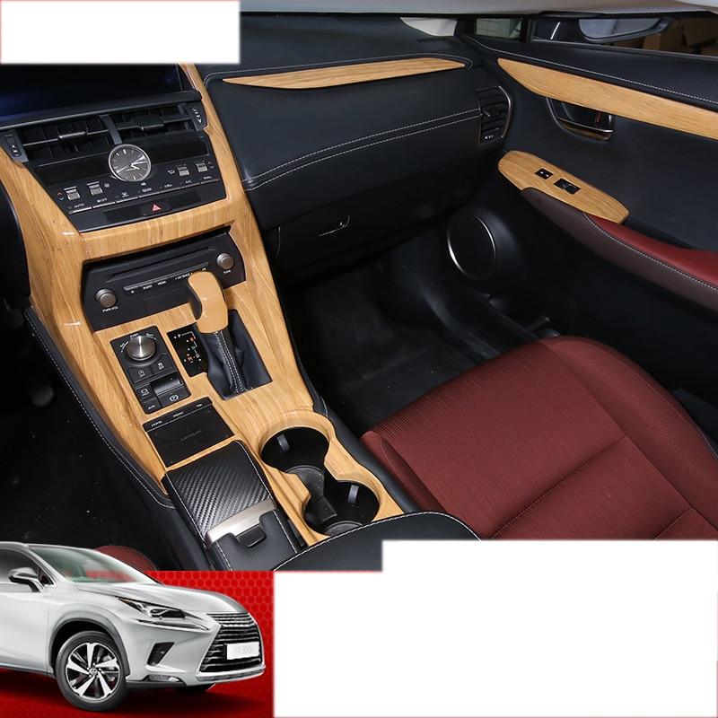 lsrtw2017 bamboo wood color car interior decoration trims for lexus nx200 nx300 nx200t nx300h 2015 2016 2017 2018 2019 2020