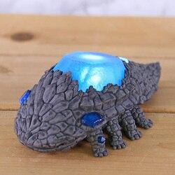 Luz-up almas escuras figura de cristal lagarto estátua de cristal lagarto figura modelo de brinquedo com luz led