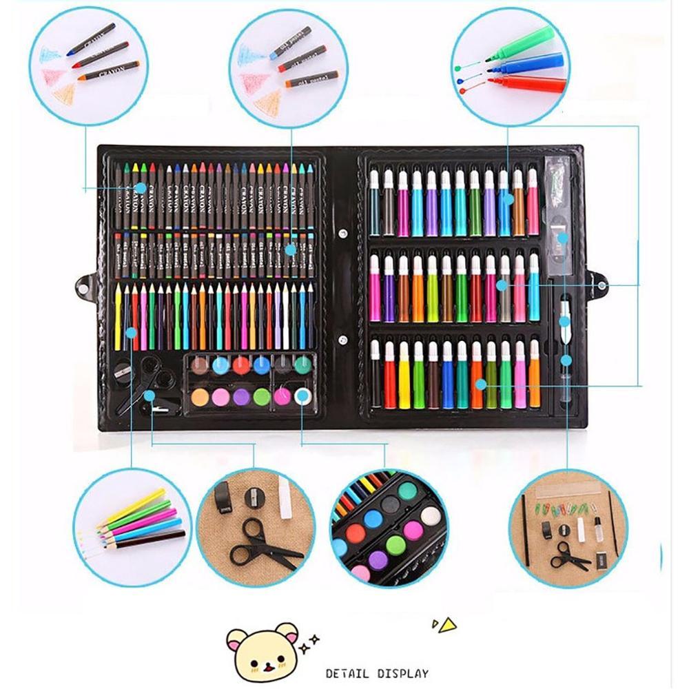 168PCS Painting Drawing Art Artist Set Kit for Kids Children Boys Girls Students Christmas Birthday Holiday Festival Gift