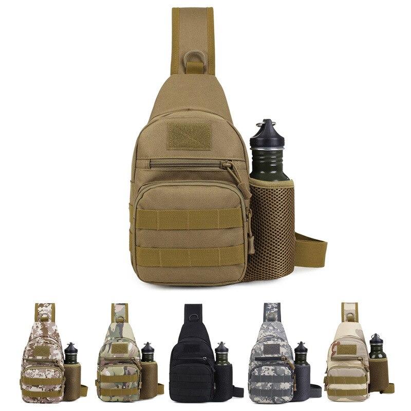 Molle bolsas de escalada al aire libre botella de Mochila Táctica Militar bolso de hombro mochila Camping senderismo viaje mochila