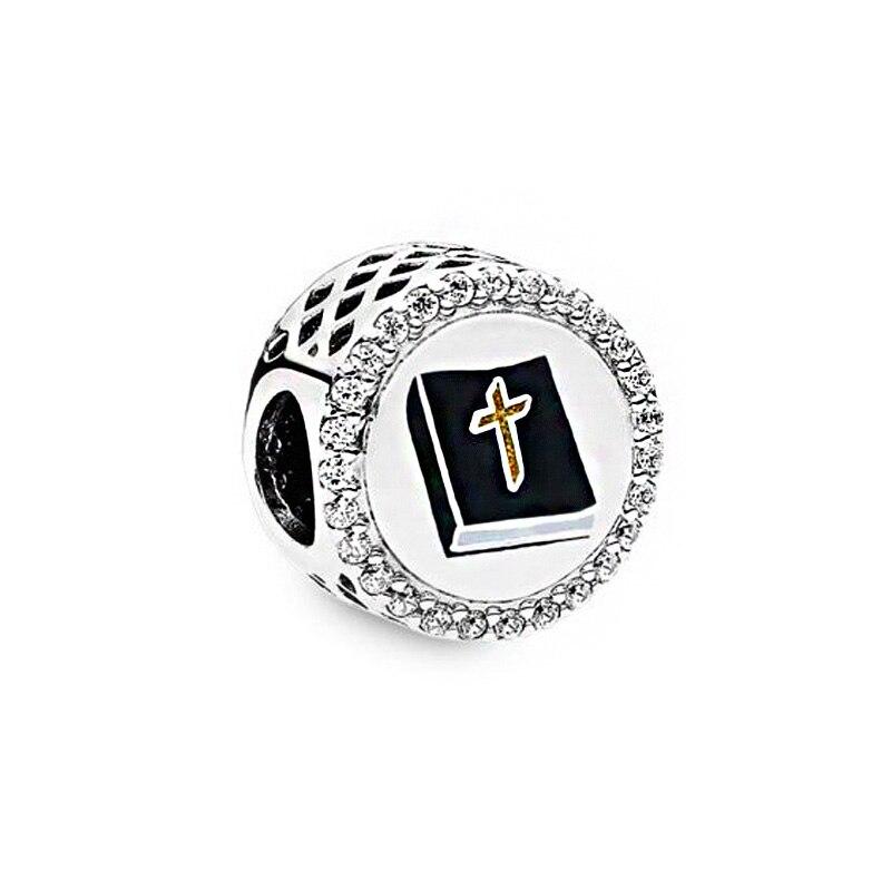 2020 nuevo verano color plata de la oración encantos cuentas Ajuste Original europeo pulseras mujeres DIY joyería