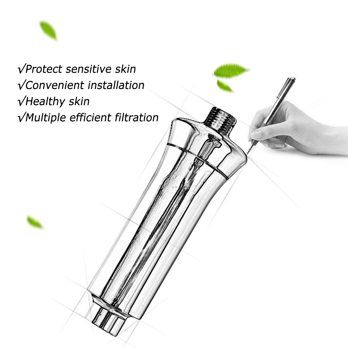 15/12 stage Household bath Water Purifier Chlorine Shower Filter Activated Carbon Faucets Eliminates Chlorine water purifier