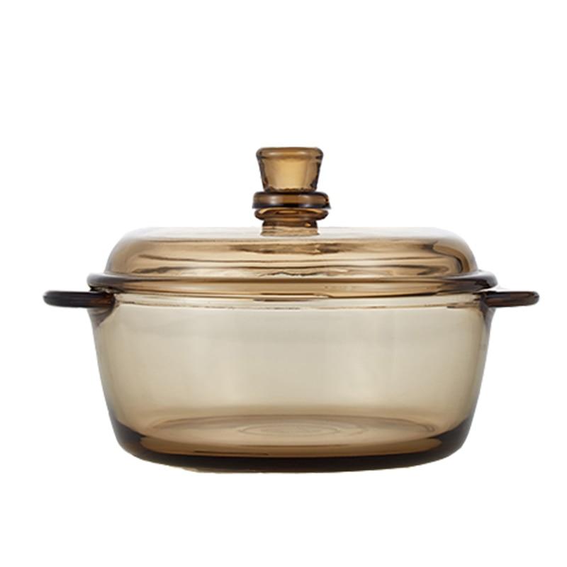 وعاء زجاجي شفاف مقاوم للبرد ومقاوم للحرارة مع غطاء صديق للبيئة وخالي من الرصاص ومقاوم لدرجة الحرارة العالية