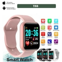 fashion smart digital watch for men women with bluetooth call reminder remote camera heart rate monitoring sport wirstwatch gift