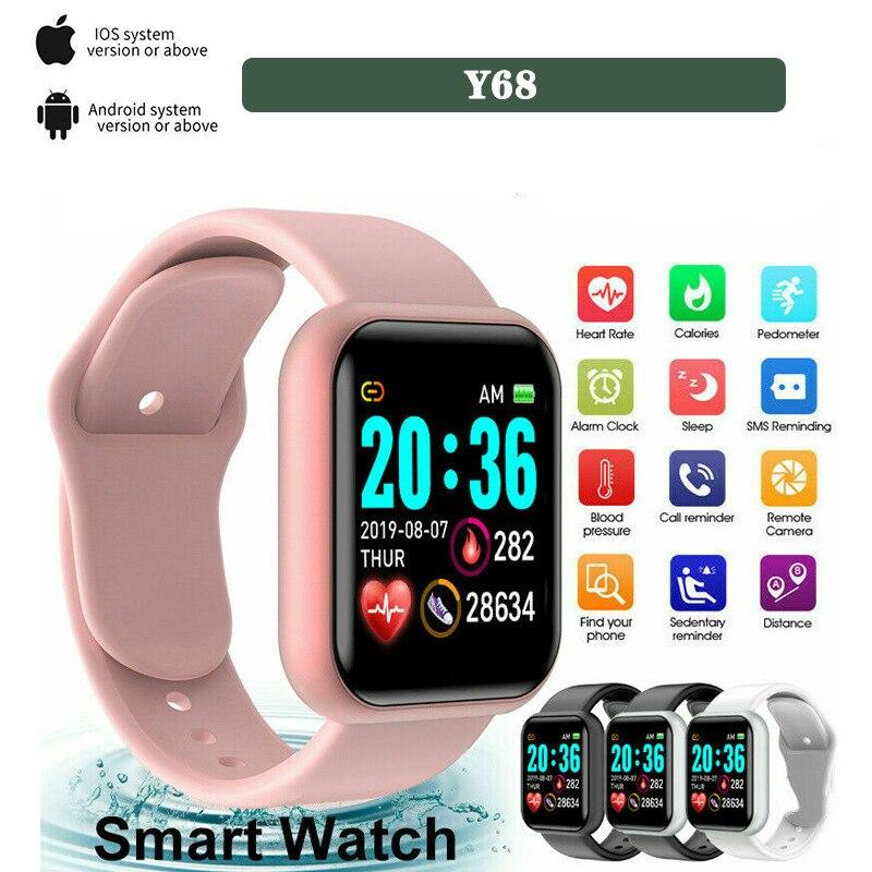 Digital para Mulheres Masculinas com Bluetooth Câmera de Monitoramento de Freqüência Moda Inteligente Relógio Chamada Lembrete Remoto Cardíaca Esporte Wirstver Presente