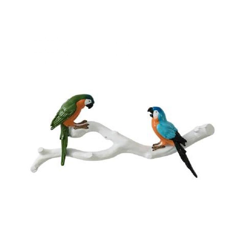 ملصقات جدار الببغاء جميلة ثلاثية الأبعاد ، الإبداعية الطيور الجدار الشنق الراتنج الحرف ، منتجات الديكور المنزل R1264