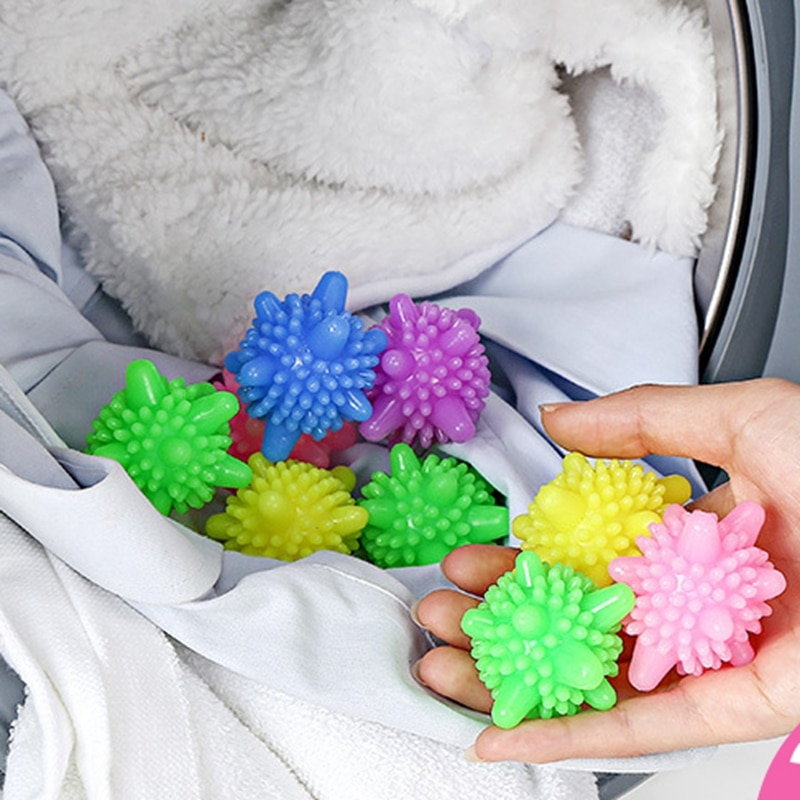 5 unids/lote bola mágica para la ropa para el hogar máquina lavadora para limpieza suavizante de ropa forma de estrella de mar bolas de limpieza sólidas 4,5/6 cm