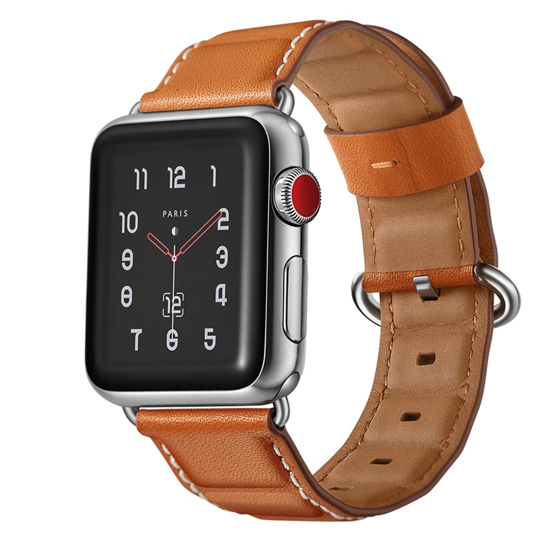 Pulsera Vintage de cuero genuino para Apple Watch, correa de reloj para...