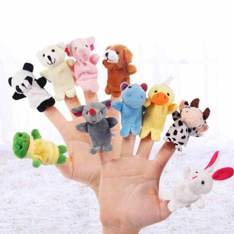 5 шт. креативные мягкие милые плюшевые Мультяшные животные, пальчиковые куклы, Ранние развивающие игрушки для детей, подарки на день рождени...