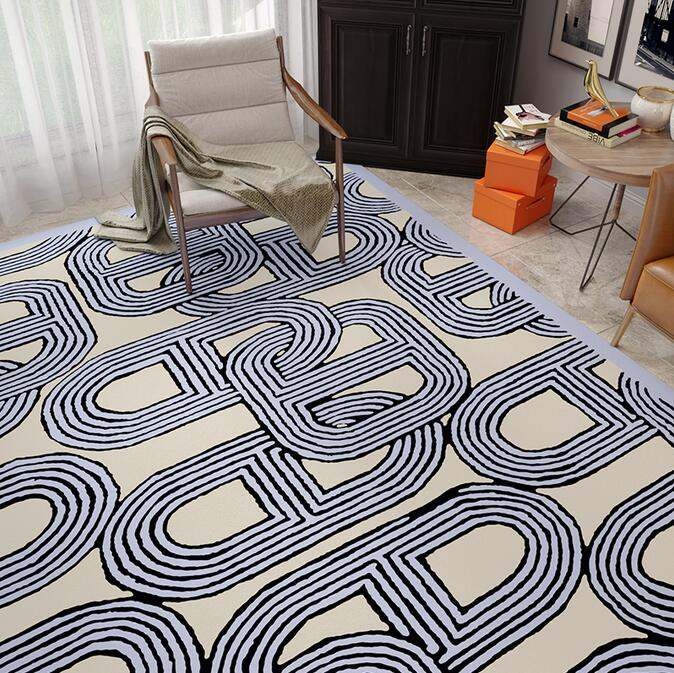 سجادة غرفة المعيشة من المخمل المرجاني ، سميكة للغاية ، غير قابلة للانزلاق ، مع غطاء أريكة ، لغرفة النوم