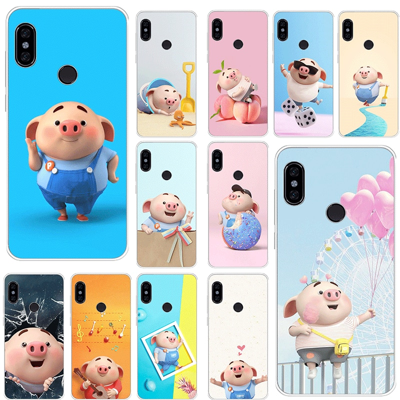 Caso do telefone móvel para xiaomi redmi k20 pro go 7 s2 4a 4x 5 5a mais 6 6a 7a proteção da capa adorável porco