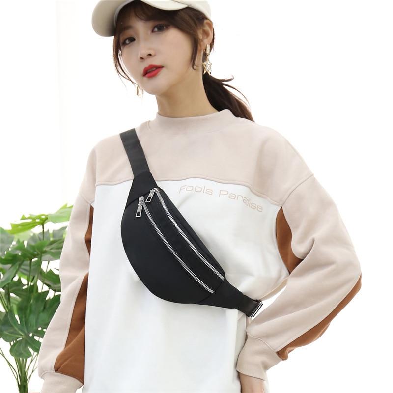 Luxury Women's Fanny Pack High Quality Waist Bag Thick Chain Shoulder Crossbody Chest Bag Female Belt Bag Designer Brand Handbag