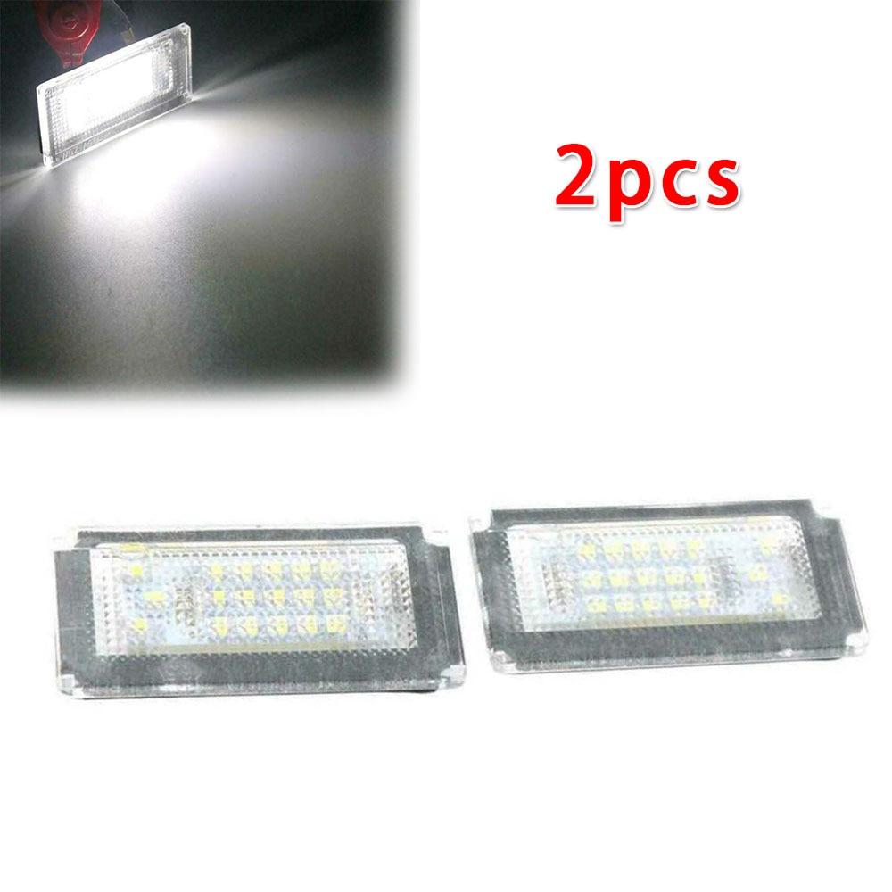 2 uds luces de matrícula de coche partes exteriores 18-LEDs sin errores OBC lámparas blancas para Mini Cooper S R50 R52 04-08 R53 01-06