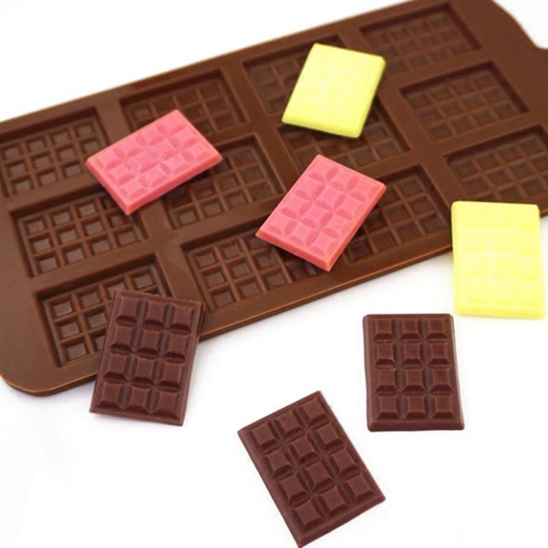 1Pc DIY Silicone Chocolate Waffle Mould Pudding Cake Fondant Molds Ice Tray Cake Decorating Tools Home Kitchen Baking Tools