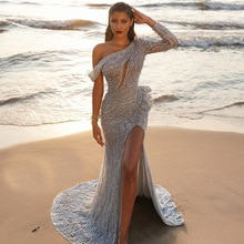 2021 Summer Women Sexy raglan sleeve Sheath Slit Formal Maxi Dress Lady Slim Hollow Out Party Skirt