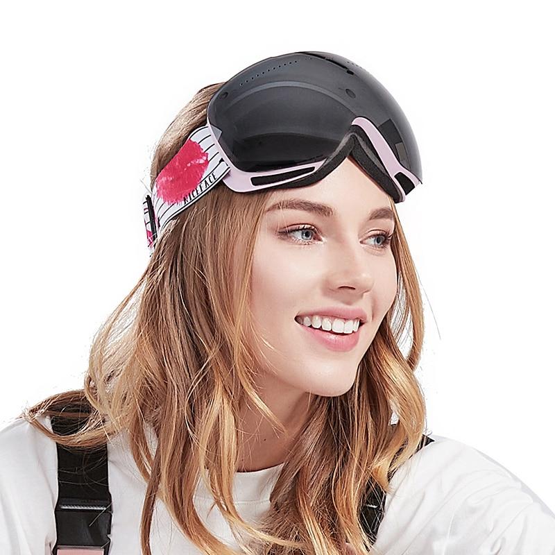 Adult Men Women Ski Goggles Double Layer Anti-Fog Skiing Eyewear Outdoor Mountaineering Safety Ski Goggles Luxury Sports Glasses