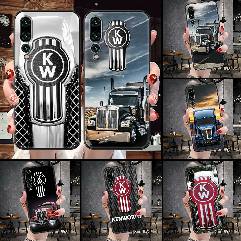 Kenworth American heavy truck Phone Case For Huawei P Mate P10 P20 P30 P40 10 20 Smart Z Pro Lite bl