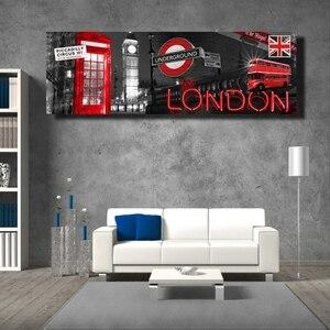 Современный лондонского городского картины на холсте с изображением пейзажа и Плакаты для Гостиная Биг Бен декоративные картины для дома без рамы