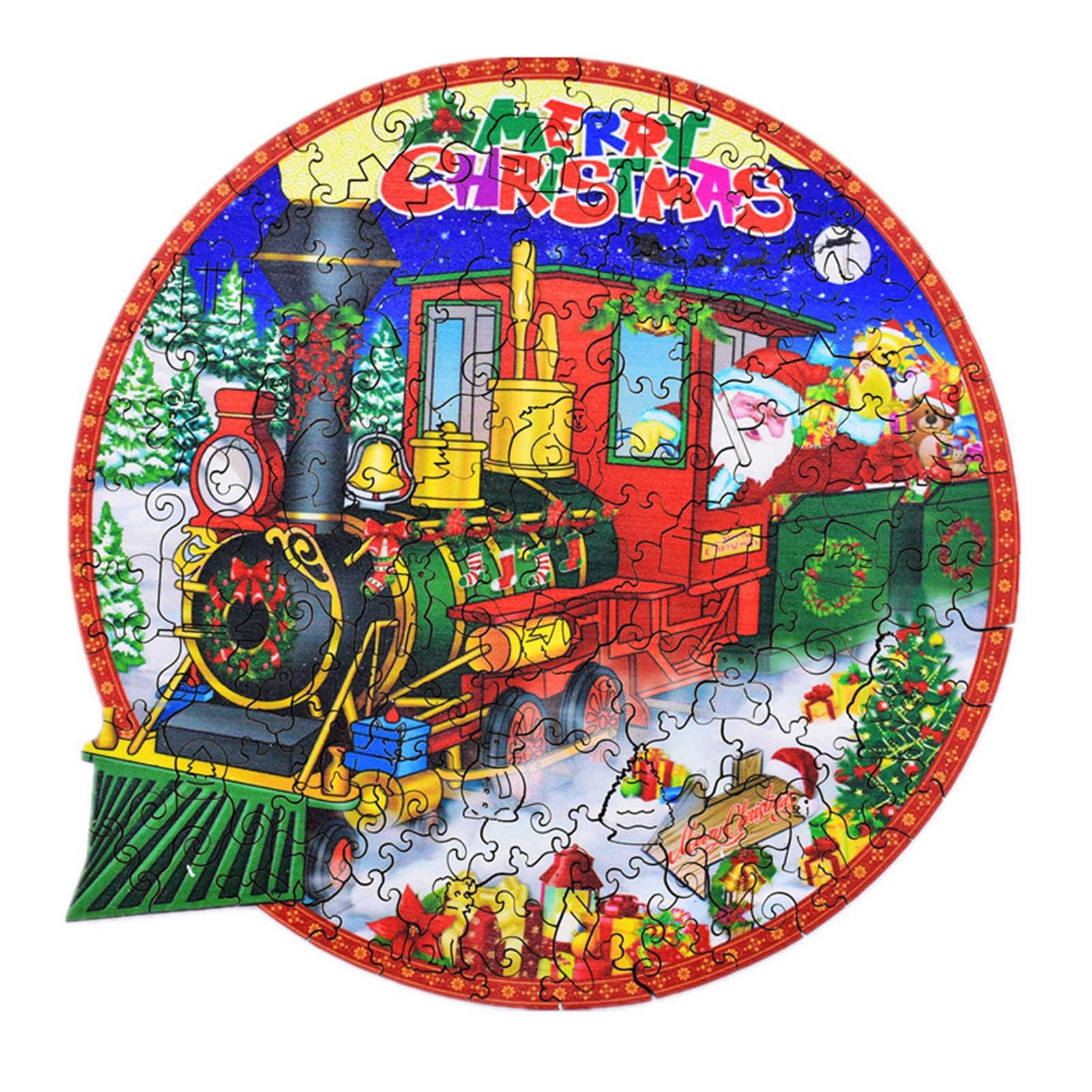 mind games Christmas Wooden Puzzle Santa Claus Merry Christmas Jigsaw Puzzles Mind Exercising Family Child Table Games Educational Toys