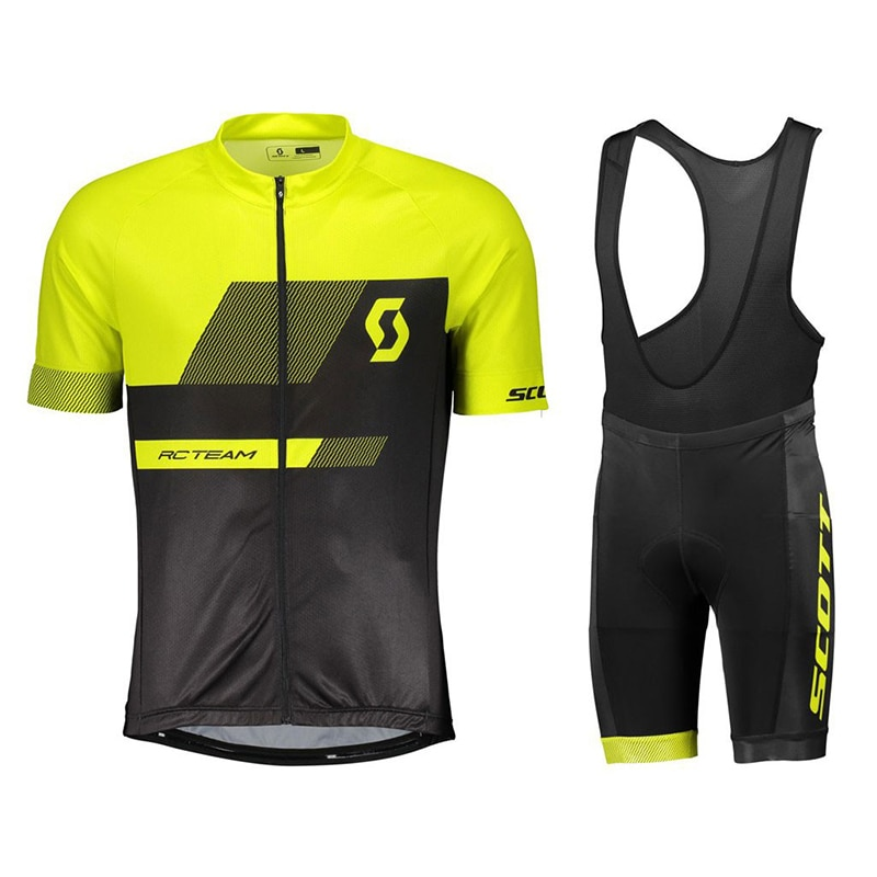 Camisa de Ciclismo Scott Nova Conjunto Respirável Mtb Corrida Bicicleta Verão Mountain Bike Roupas Ciclismo Wear 19d Almofada 2021 Pro