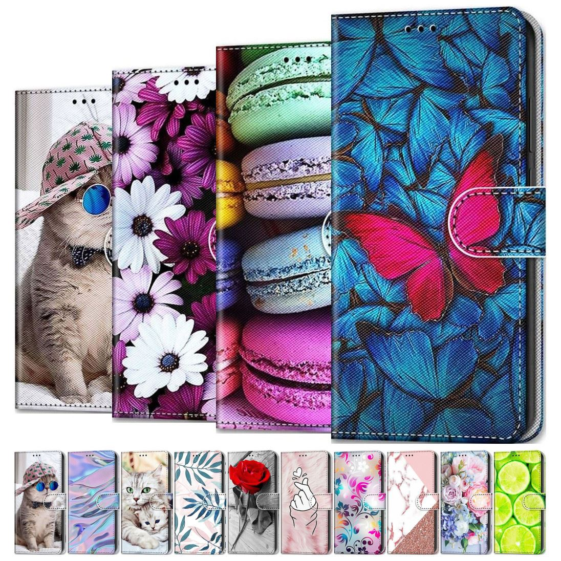 Cat Butterfly Painted Phone Shell For Case Huawei Honor Honor 20 10 9 8 Lite 9X 6A 6C Pro 7S 8S V9 P