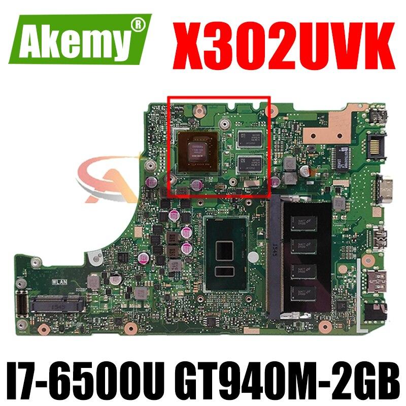 Akemy X302UVK ل Asus X302UJ X302U X302UV X302UA_UJ اللوحة المحمول I7-6500U GT940M-2GB RAM-4GB DDR3 90NB0BM0-R00030