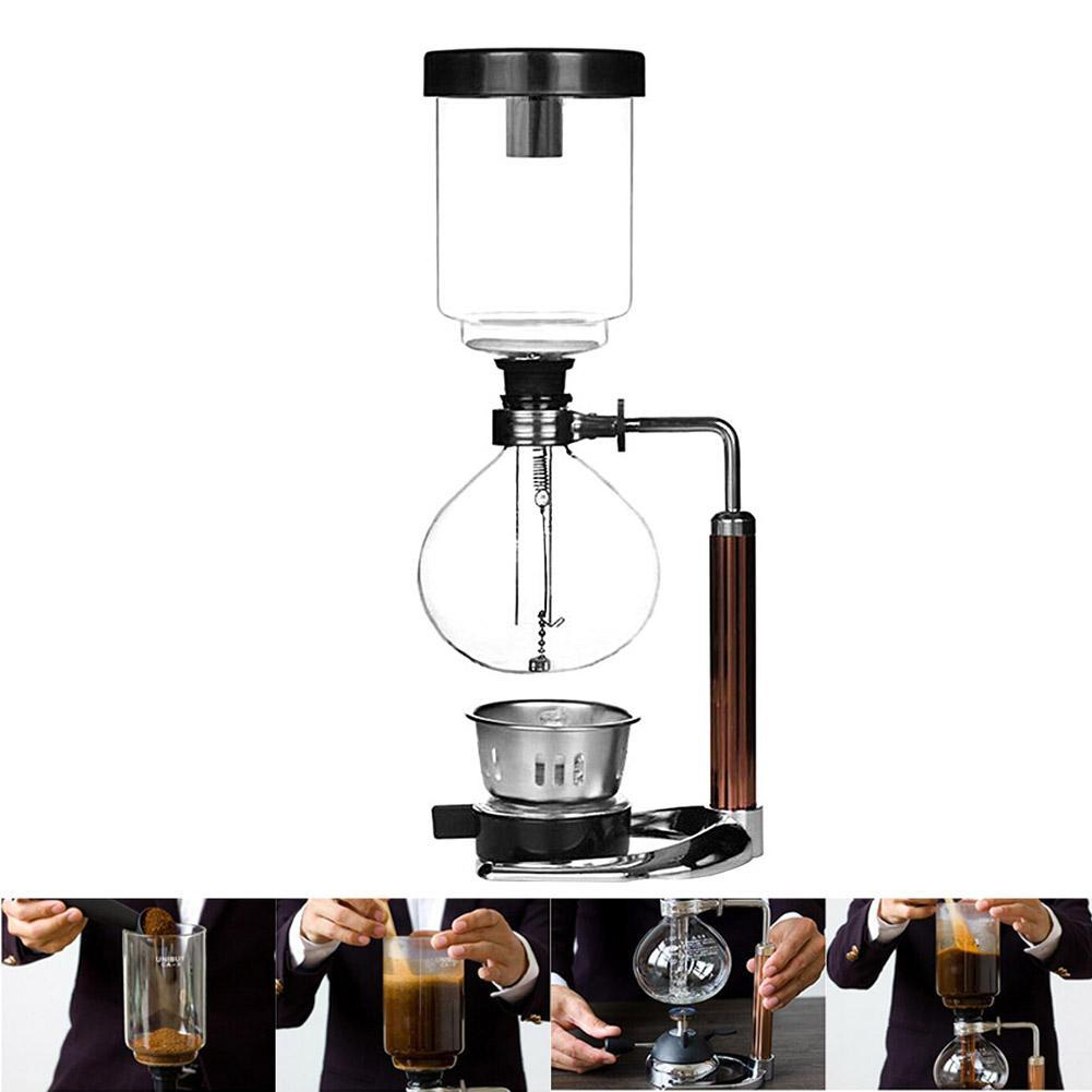 Siphon Coffee Maker Tea Siphon Pot Vacuum Coffeemaker Glass Type Coffee Machine...