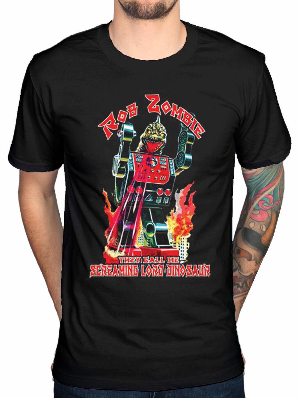 Oficial de Rob Zombie señor dinosaurio camiseta Hellbilly educado caballos Mondo Sexo Hombre Harajuku Top Fitness ropa de marca