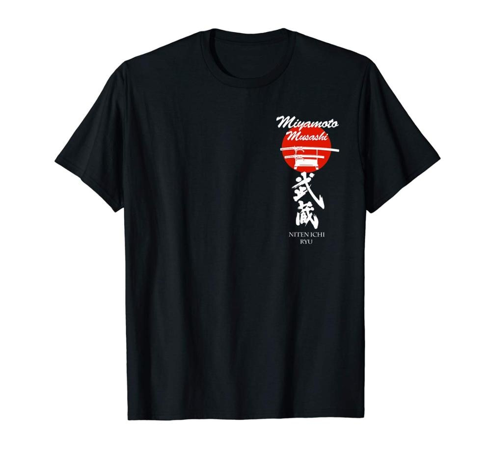 Camiseta Miyamoto Musashi samurái Kendo Katana Niten Ichi Ryu de doble cara, camiseta moderna de Superman de verano 2020 para hombre