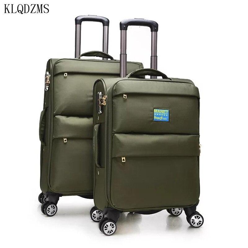 "KLQDZMS 20 ""24"" moda negocios hombres Oxford equipaje de viaje mujeres carretilla maleta enrollable equipaje sobre ruedas"