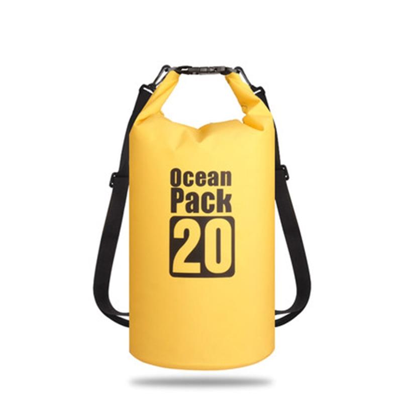 10l 20l translucent swimming waterproof bag storage dry bag swimming bag for canoe kayak rafting outdoor camping river trekking 5L/10L/15L/20L/30L Outdoor swimming Waterproof Bag Pack PVC tarpaulin Camping Rafting Storage Dry Bag with Adjustable Strap Hook