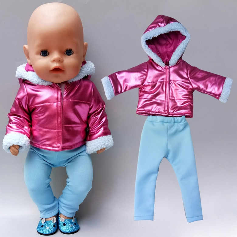 Baby new born Doll Clothes coat set18 inch american Doll Clothes jacket doll accessories