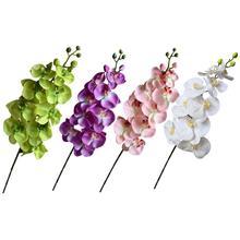 Orchidée fleurs artificielles soie papillon Phalaenopsis fausse fleur pour bricolage fête Festival Bouquet mariage maison hôtel décoration