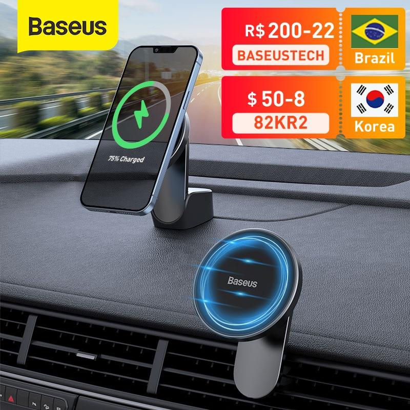 Магнитное автомобильное беспроводное зарядное устройство Baseus для iPhone 13, iPhone 12 Pro Max, беспроводное зарядное устройство для автомобиля, держатель для телефона, подставка для вентиляционного отверстия | Мобильные телефоны и аксессуары | АлиЭкспресс